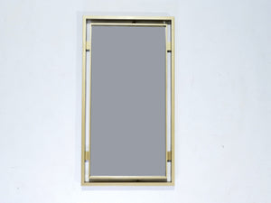 Brass mirror by Guy Lefevre for Maison Jansen 1970s