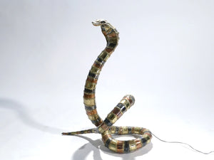Signed Isabelle Faure cobra sculpture floor lamp 1970s