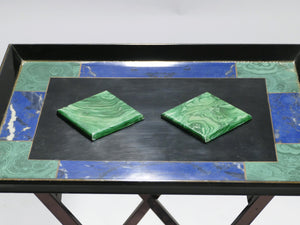 Christian Dior faux malachite folding tray table 1970s