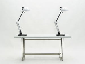 Rare pair of Italian Harvey Guzzini table desk lamps 1970s
