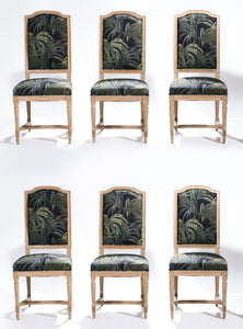 Set of six French Louis XV style chairs 1950s