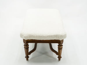 Louis XIV Style French bench dark oak from 1920s
