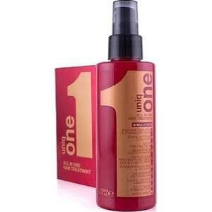 Uniq One Mascarilla en spray 10 productos en uno. No precisa aclarado.