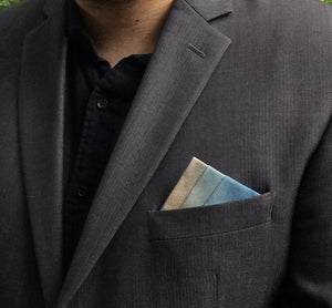 Olive and Blue Ombre Pocket Square
