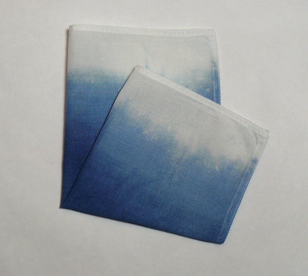 Blue Ombre Pocket Square - Style A