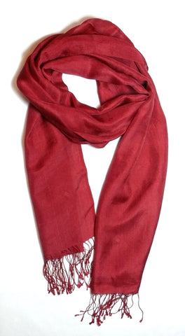 Diamond Red Silk Scarf