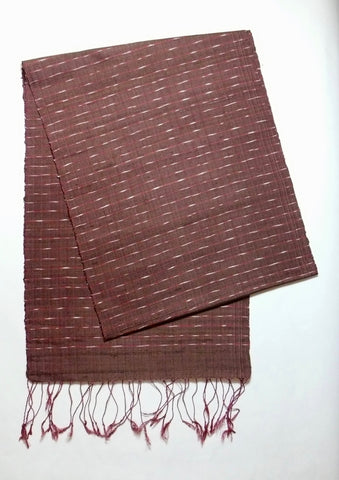 Burgundy Ikat striped Scarf