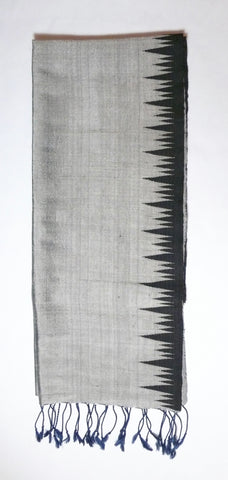 Black and Silver Mountain Peaks Scarf