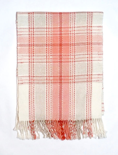 Madder and Cream Plaid Scarf