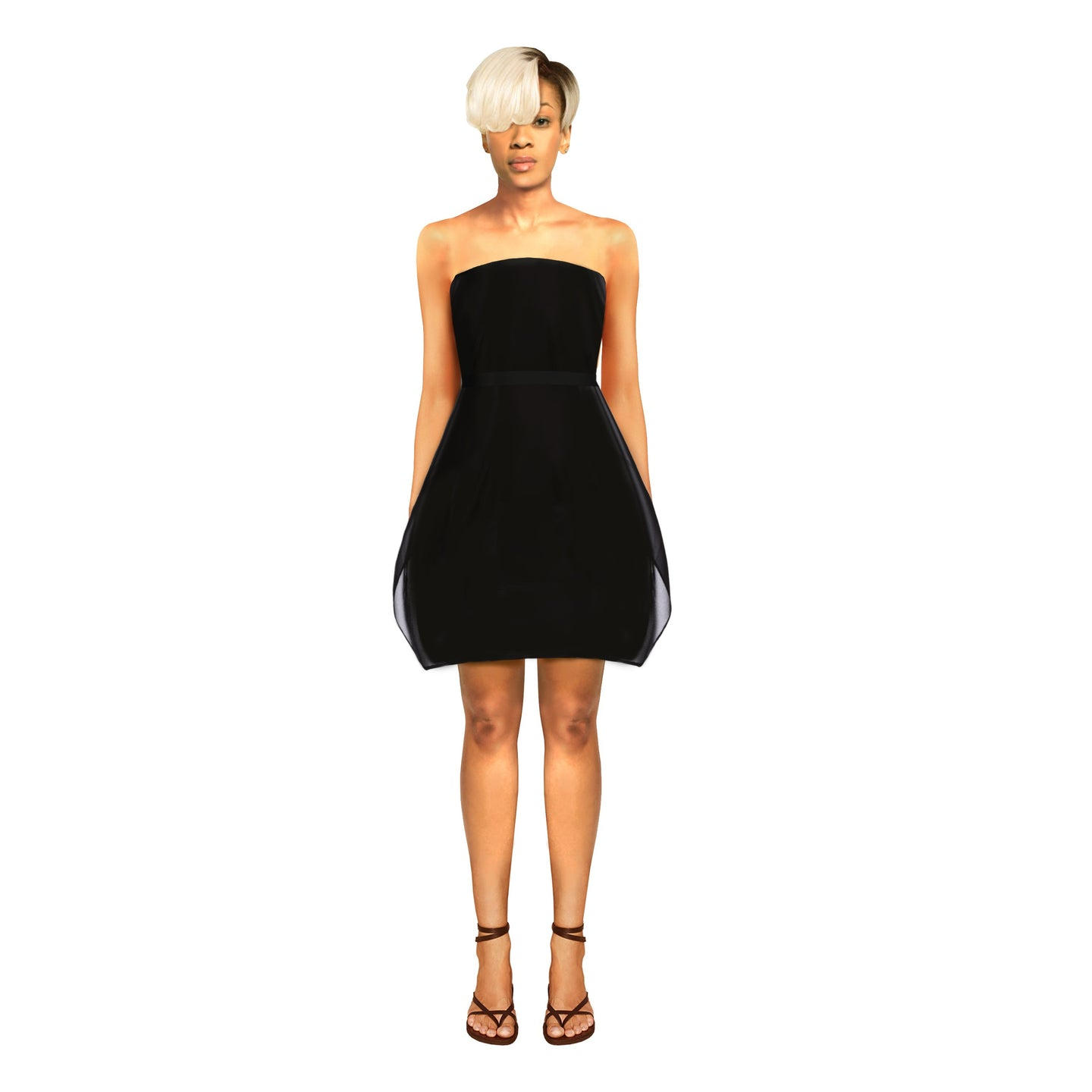 Leban Dress by House of Perris is a minimal layered little black dress.