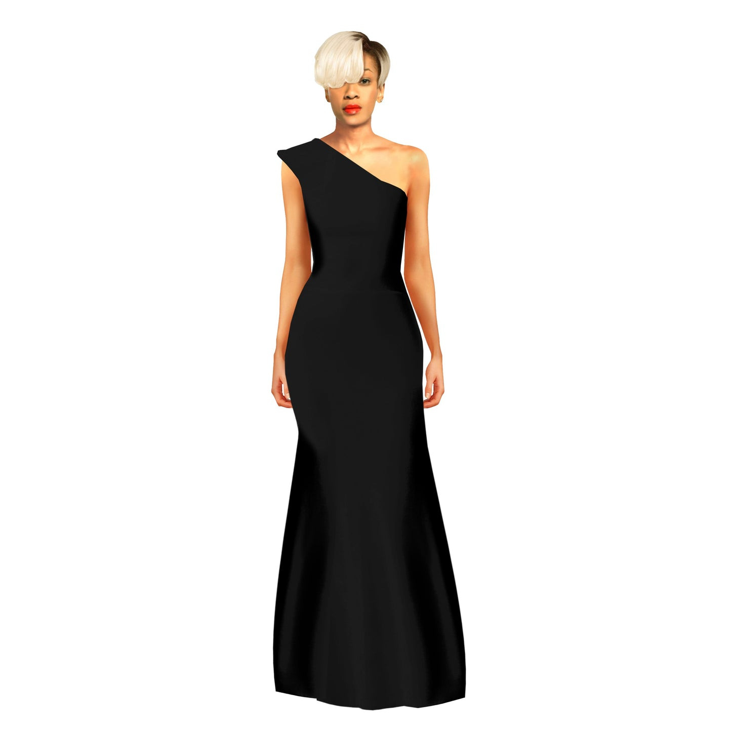 Sanni is a minimal one shoulder, glam dress by House of Perris