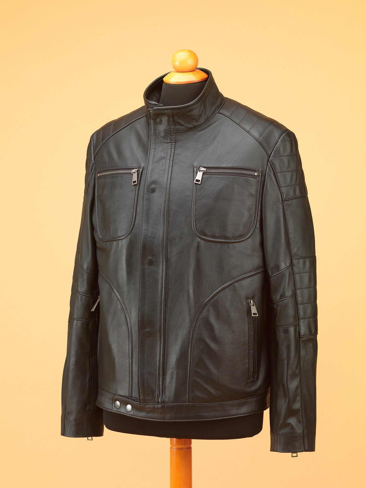 Men Leather Jacket - NR3475