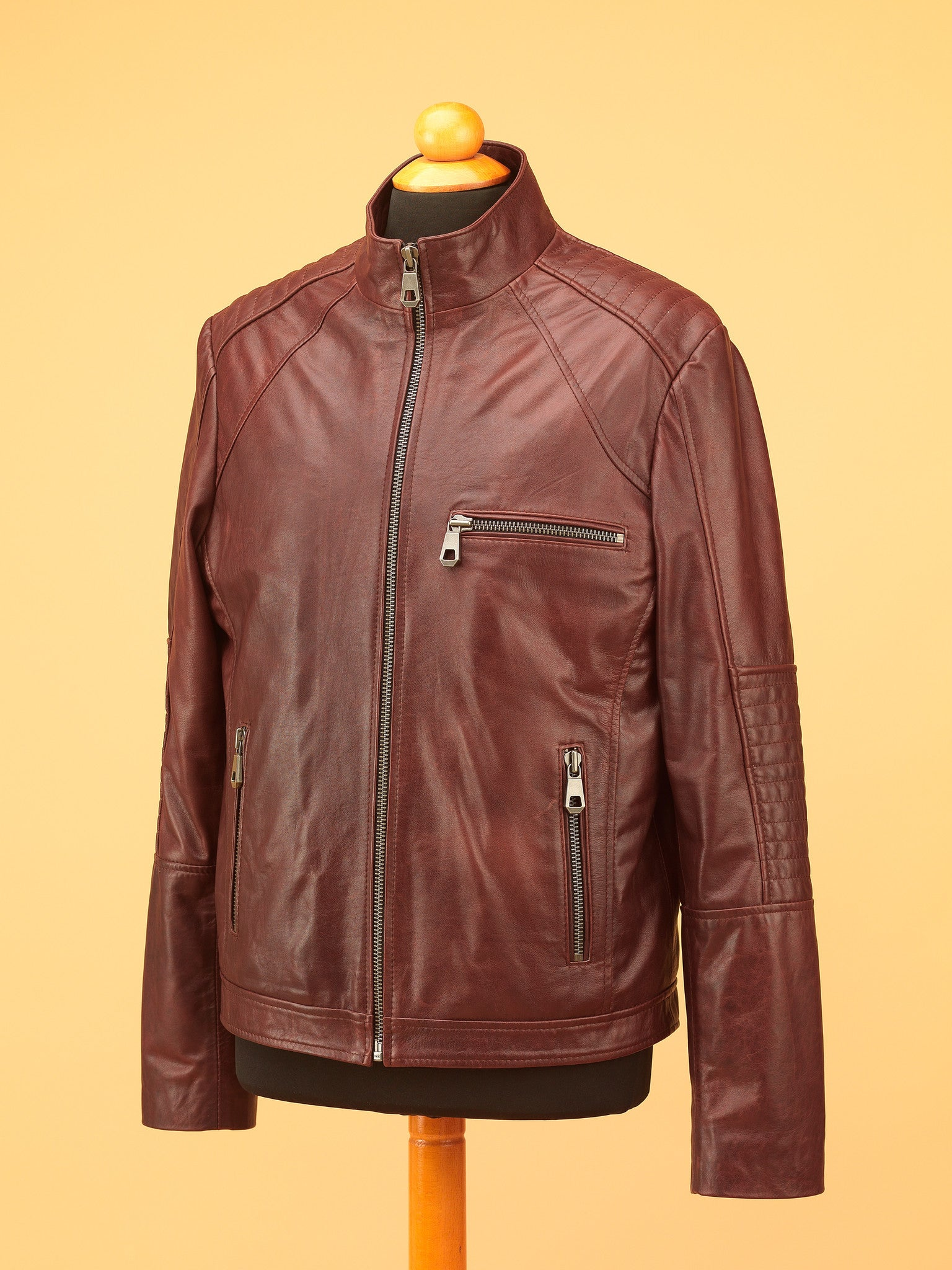 Men Leather Jacket - NR3459