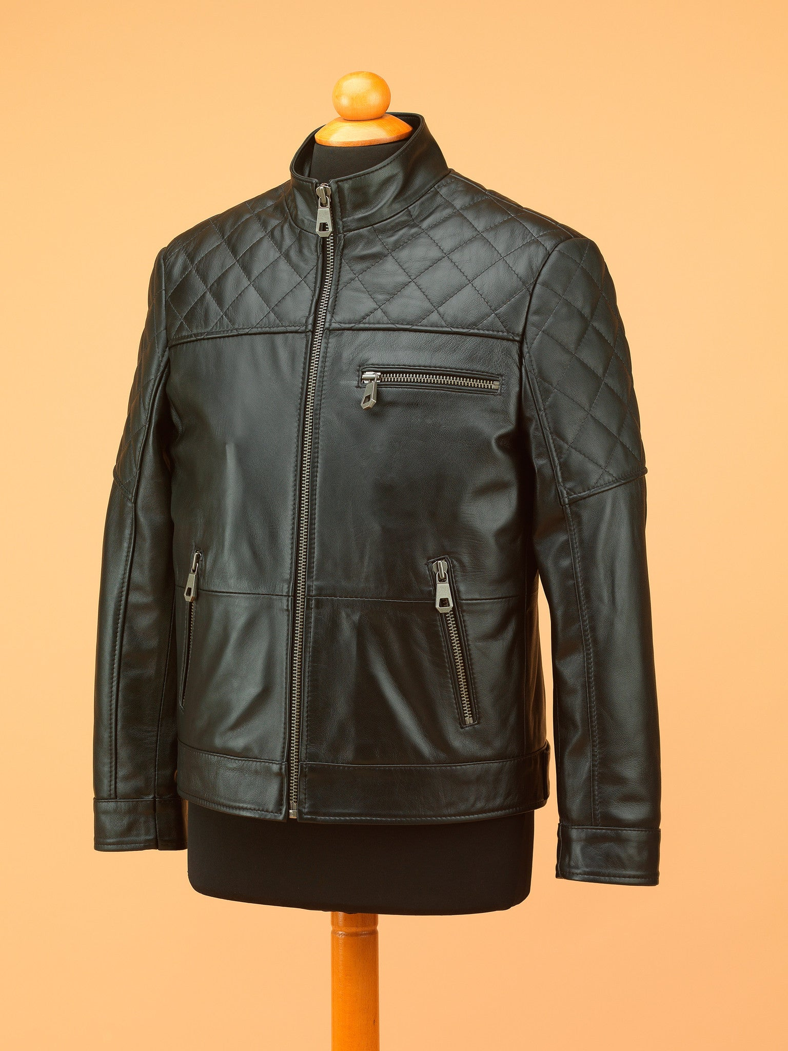 Men Leather Jacket - NR3469
