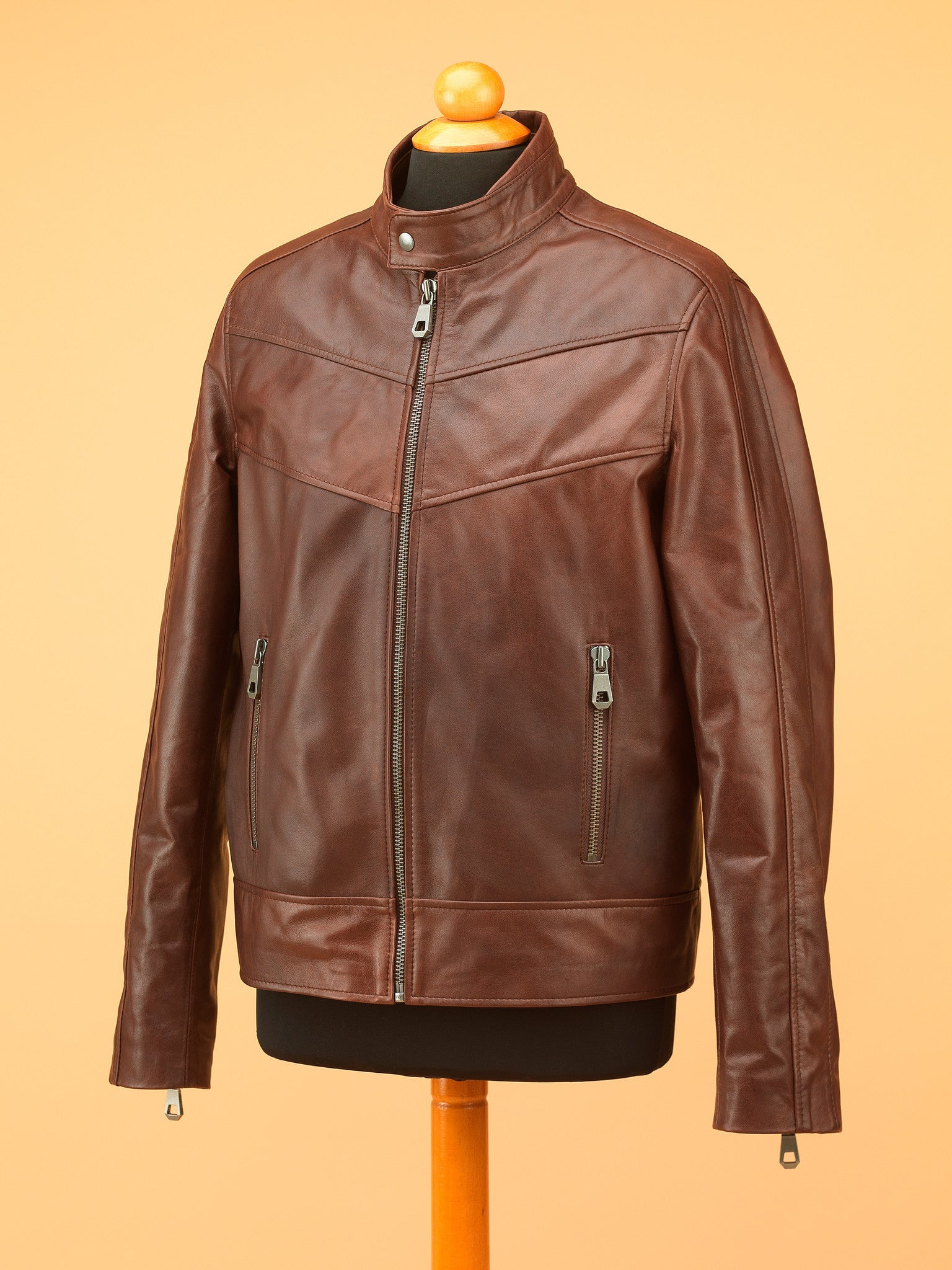 Men Leather Jacket - NR3382