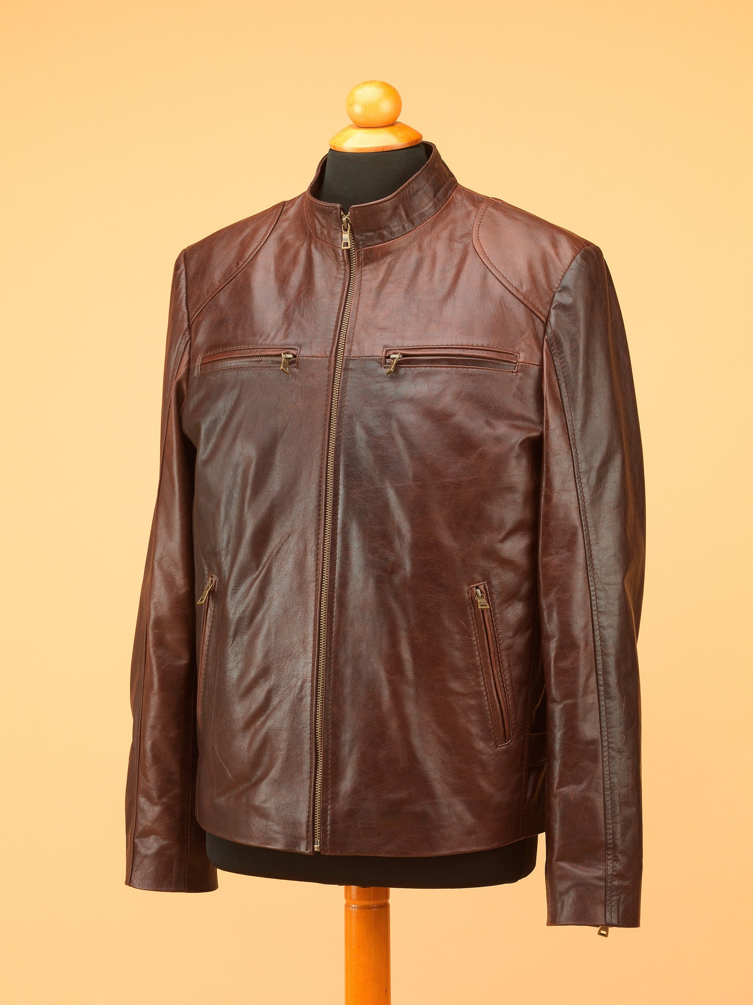 Men Leather Jacket - NR3864