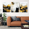 Painted Bronze Canvas Wall Art