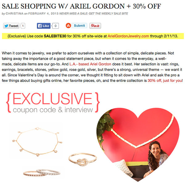 Coupons for Stores Related to arielgordonjewelry.com