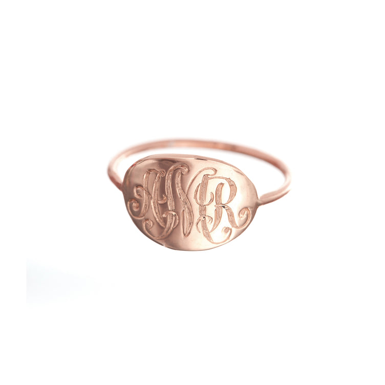 Archive Slim Signet Ring