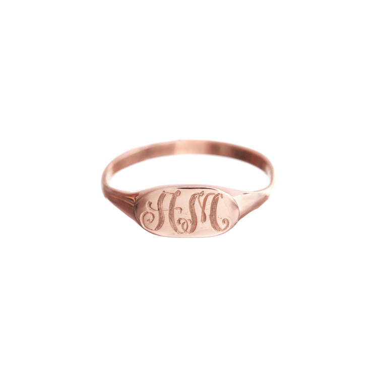 Archive Petite Signet Ring