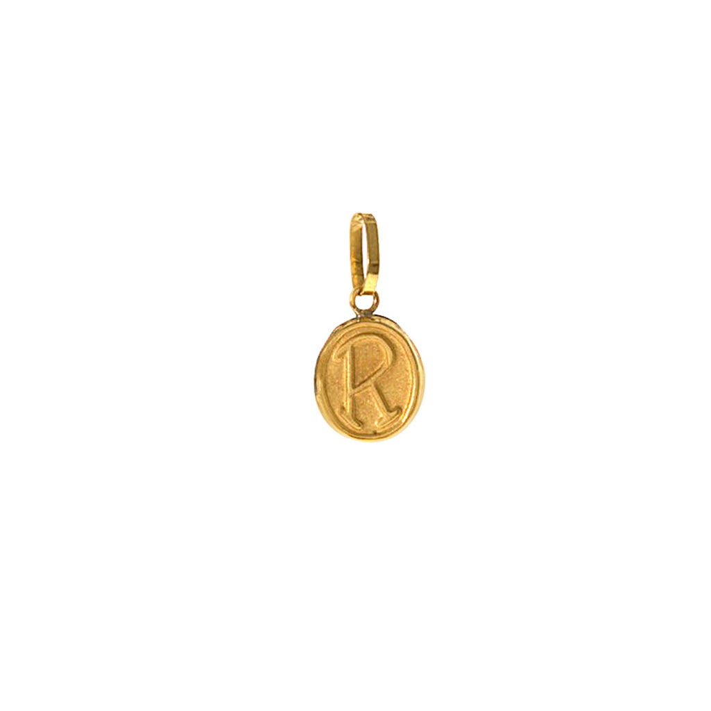 18k R Charm -- Ariel Gordon Jewelry