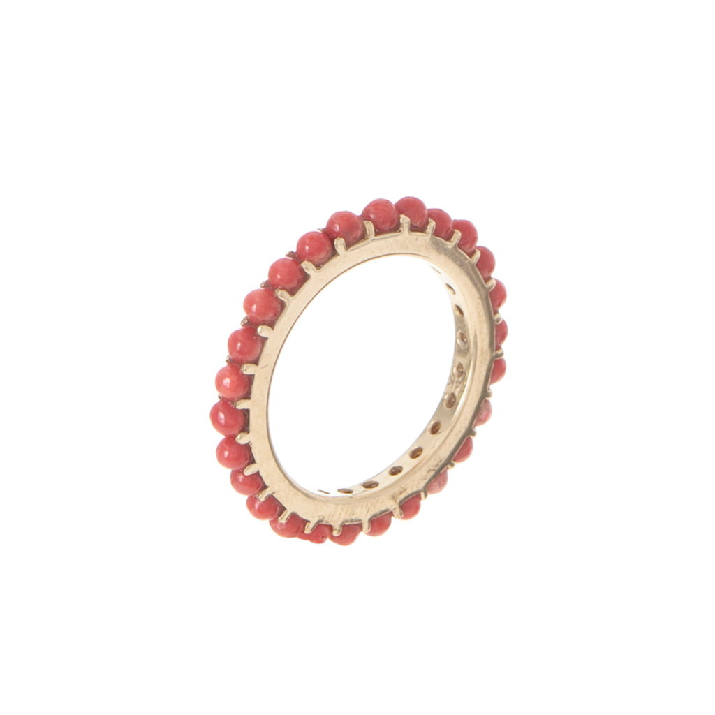 Coral Eternity Ring