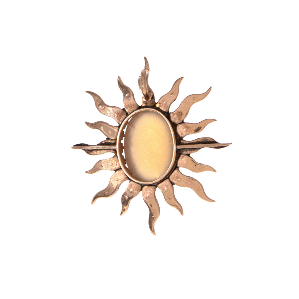 Moonstone and Pearl Sun Pendant