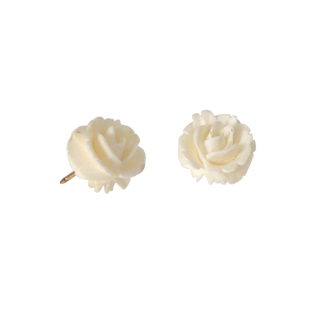 Carved Flower Earrings -- Ariel Gordon Jewelry