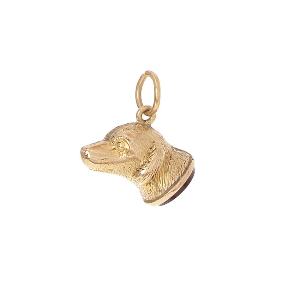 Georgian Carnelian Dog Fob -- Ariel Gordon Jewelry