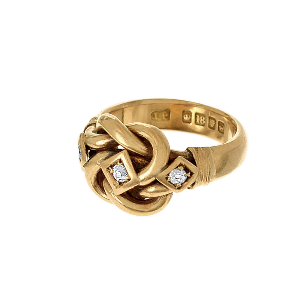 Diamond Lovers Knot Ring Ariel Gordon Jewelry