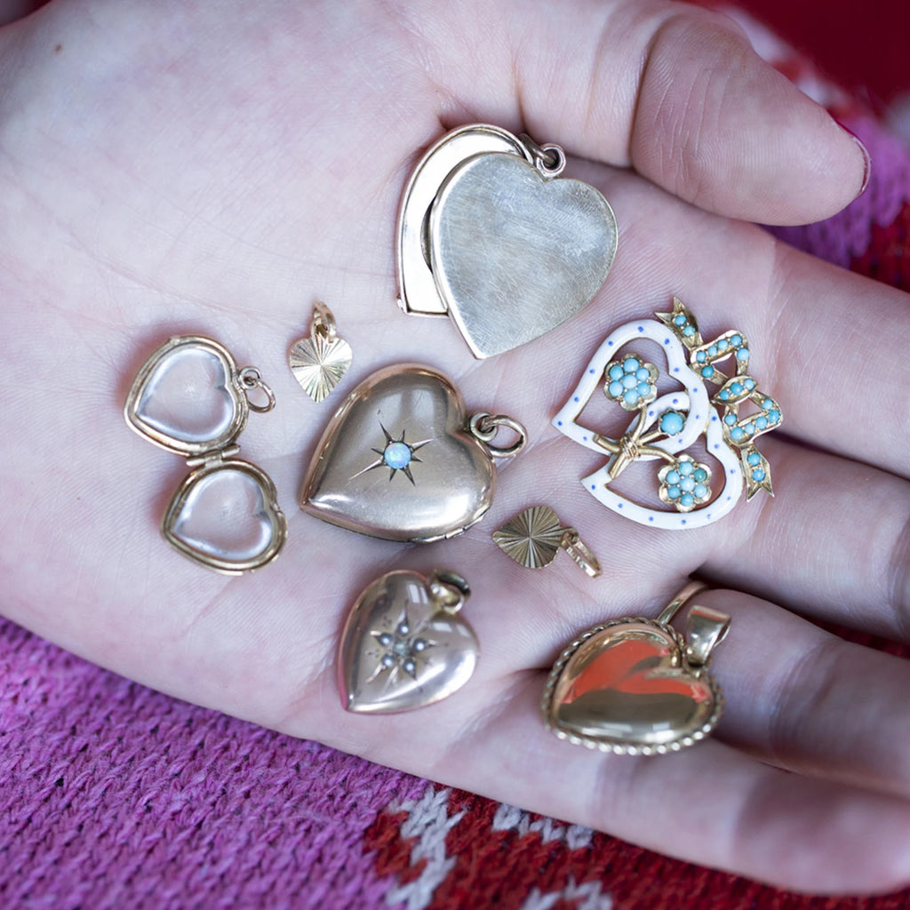 Victorian Crystal Heart Locket