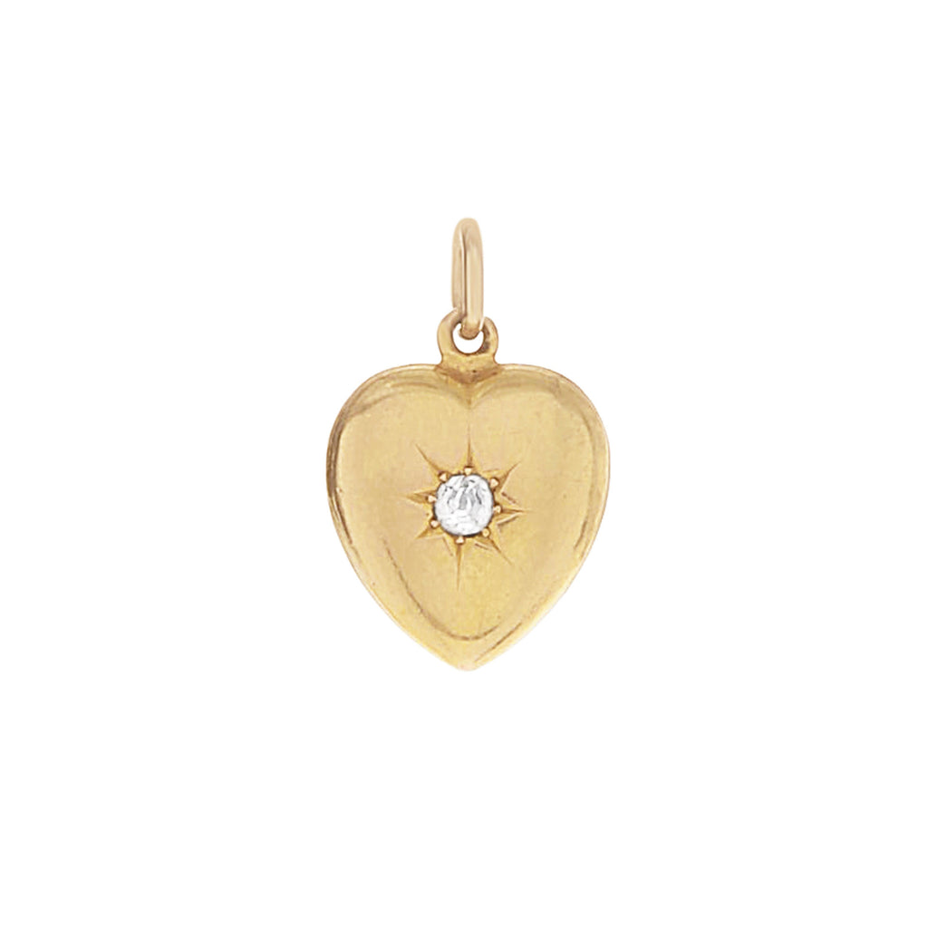 Victorian Heart Diamond Locket