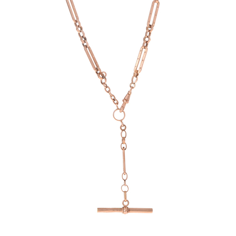 Rose Gold Albert Chain with Fob