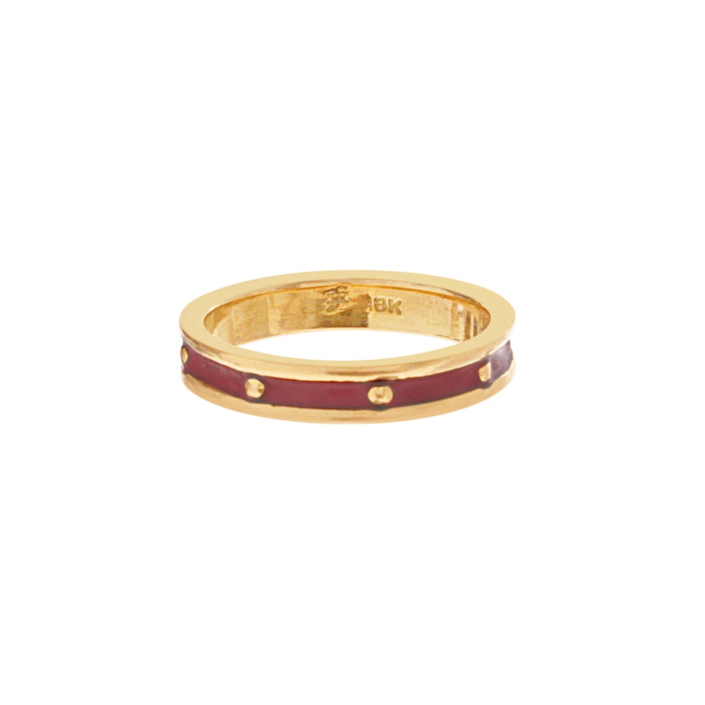 18k Red Enamel Band