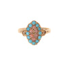 Turquoise and Coral Ring -- Ariel Gordon Jewelry