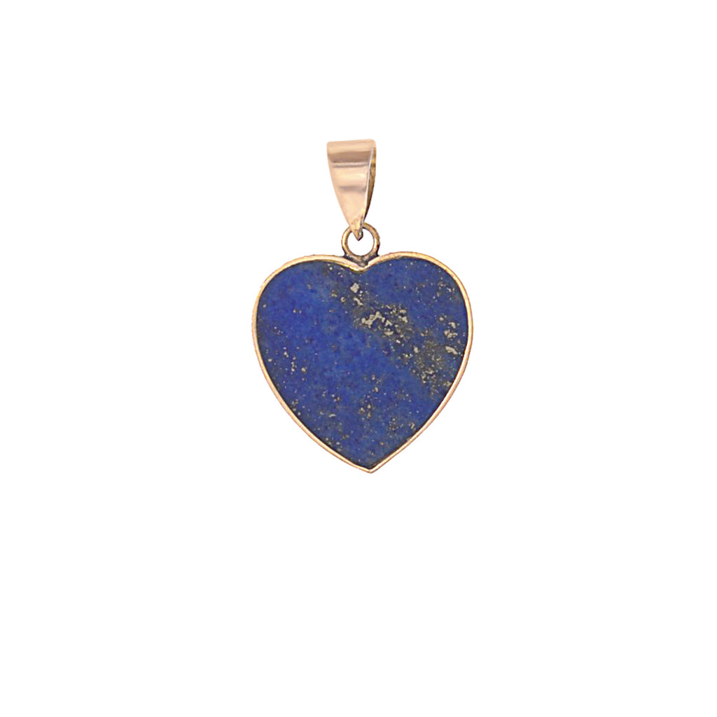 Lapis Inlay Heart Charm