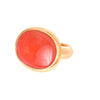 Oversized Coral and Gold Cocktail Ring -- Ariel Gordon Jewelry