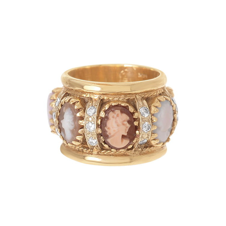 Cameo Eternity Ring