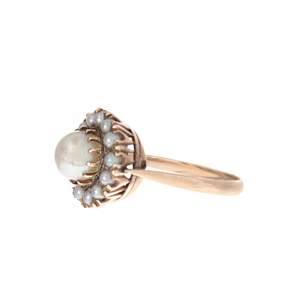 Victorian Pearl Cluster Ring
