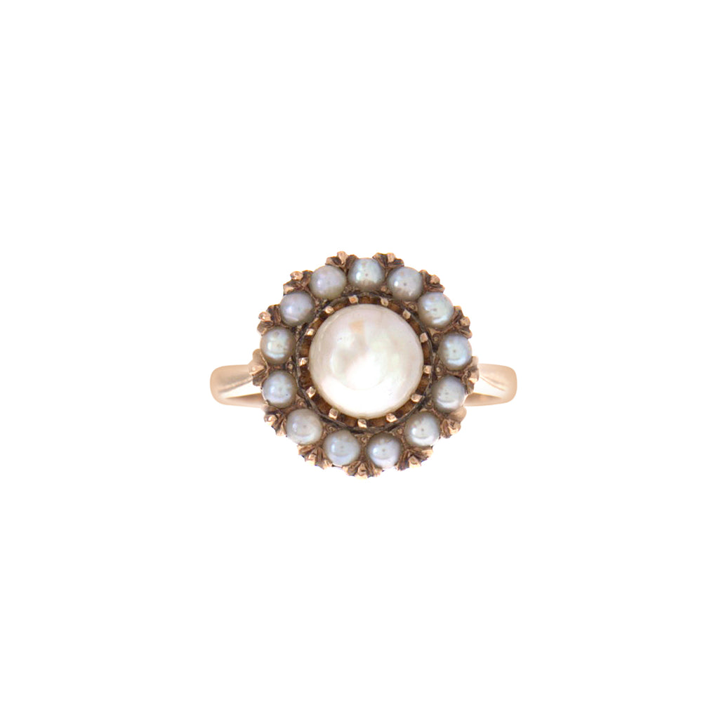 Victorian Pearl Cluster Ring -- Ariel Gordon Jewelry