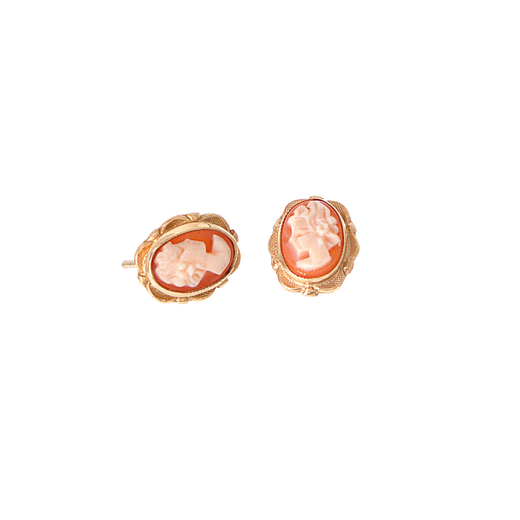 Cameo Stud Earrings