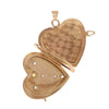 Florentine Folding Locket with Stones -- Ariel Gordon Jewelry