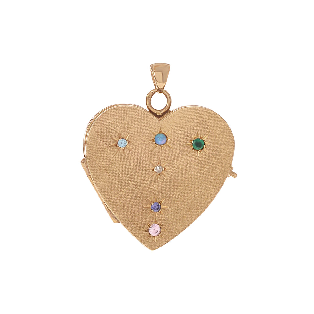 Florentine Folding Locket with Stones