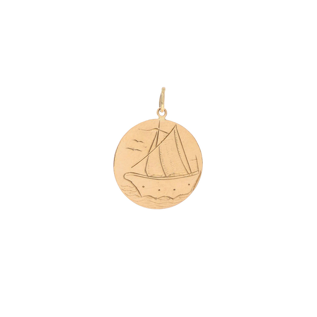 Engraved Sailboat Charm