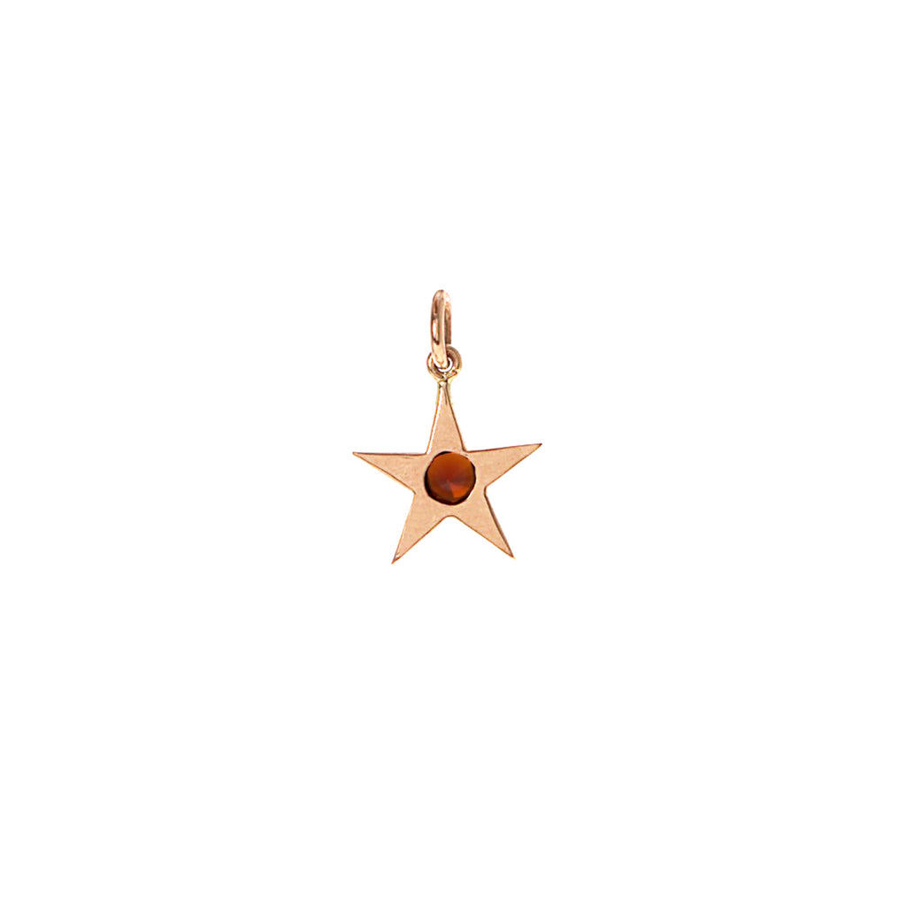 Garnet and Gold Star Charm -- Ariel Gordon Jewelry