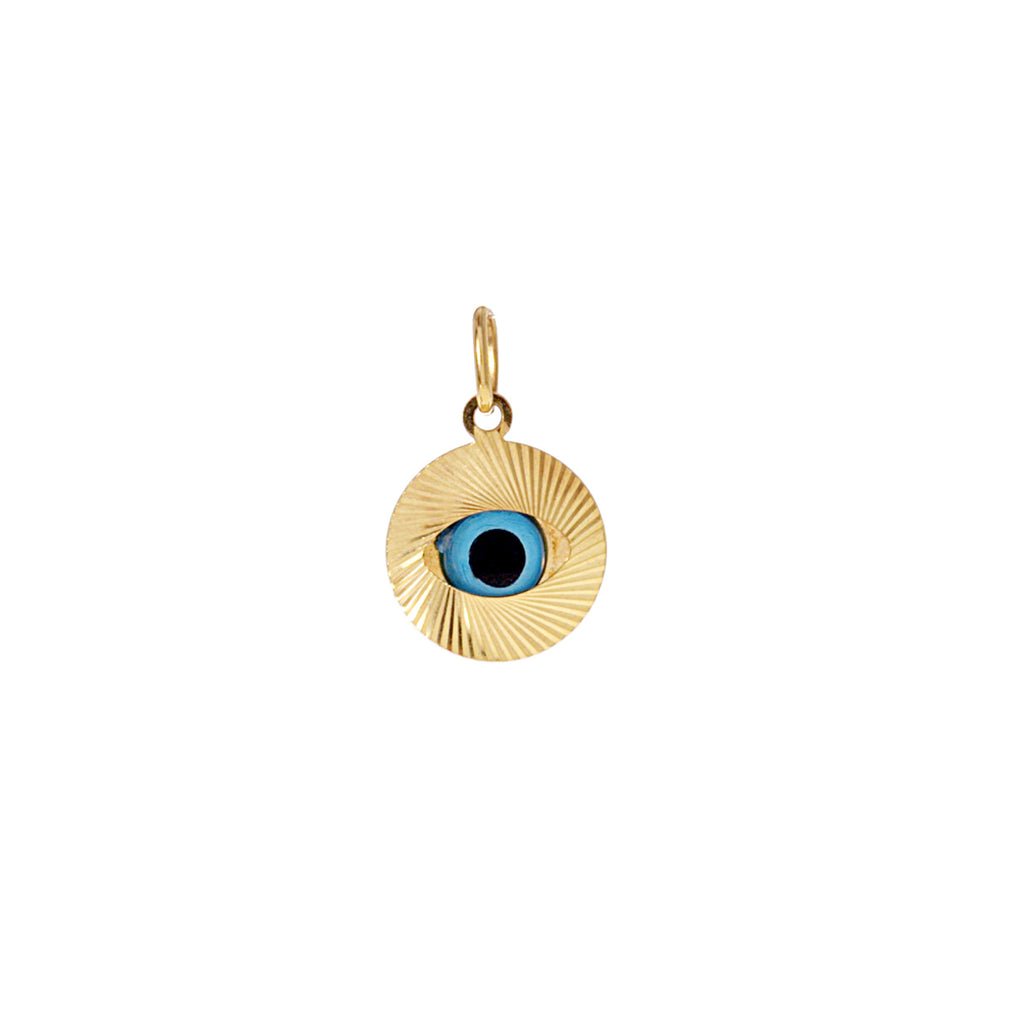Evil Eye Glass Charm