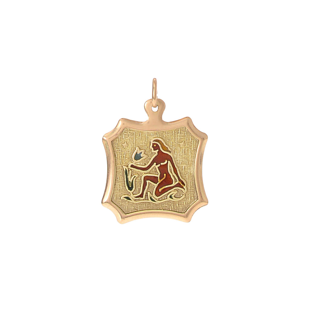Enamel Virgo Charm -- Ariel Gordon Jewelry