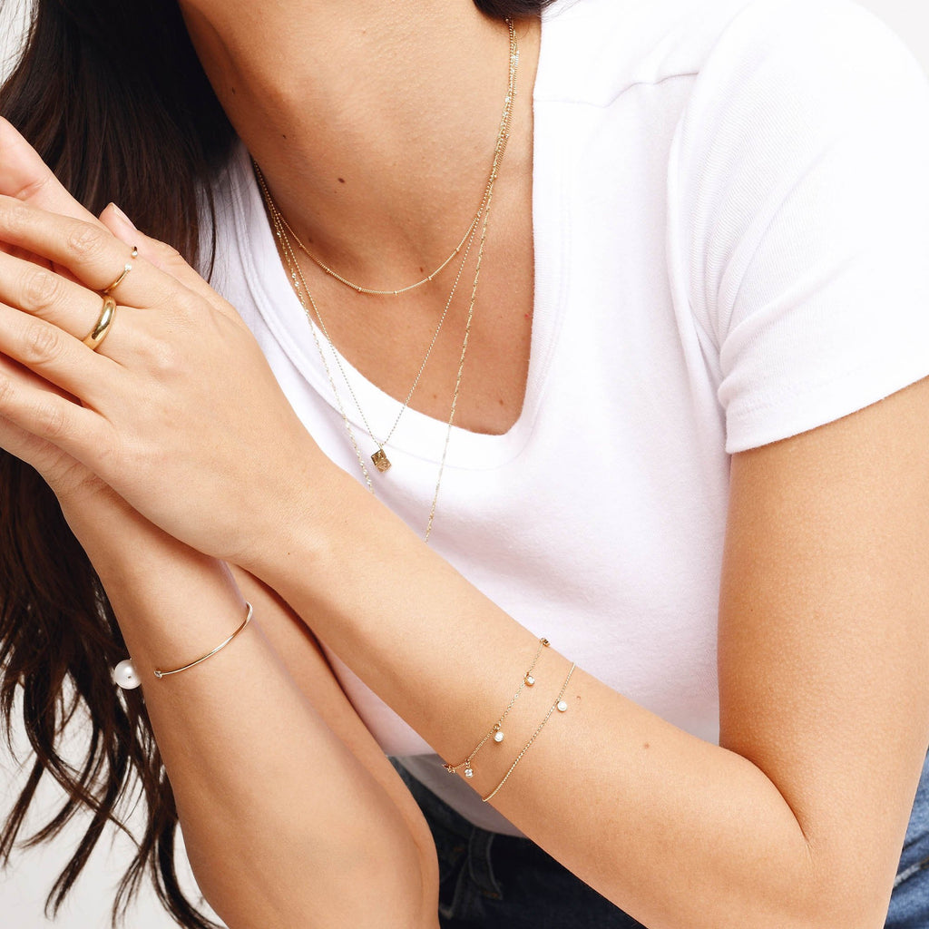 Diamond Droplet Bracelet
