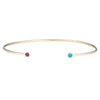 Dual Birthstone Cuff -- Ariel Gordon Jewelry