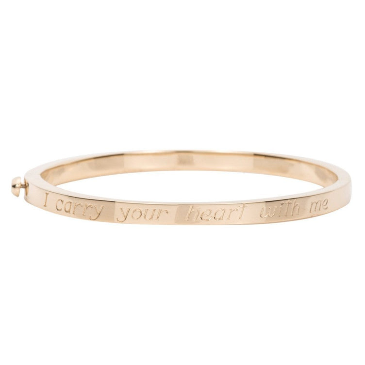 Poesy Signet Bangle